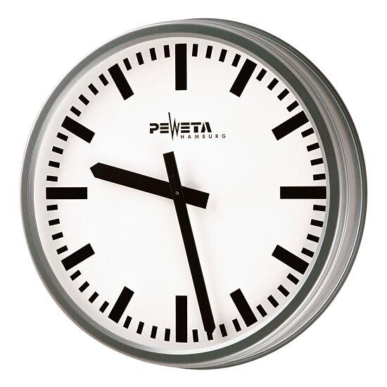 Peweta® Wetterfeste Außenuhr Standard, Zifferblatt DIN-Balken