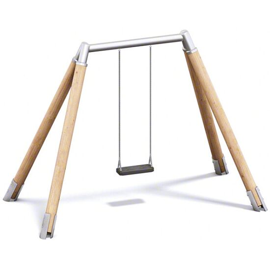 Playparc Einfachschaukel Holz/Metall Aufhängehöhe 220 cm