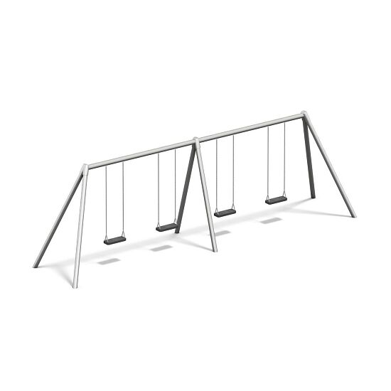 Playparc Vierfachschaukel Metall Aufhängehöhe 220 cm