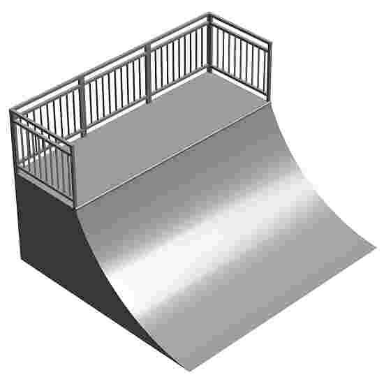 Quarter Pipe with Platform (HxBxL): 98x240x320 cm