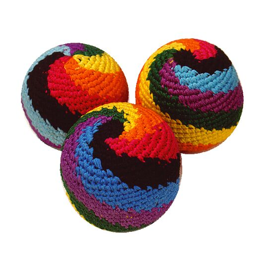 """Rasta Rainbow"" Juggling Beanbags"