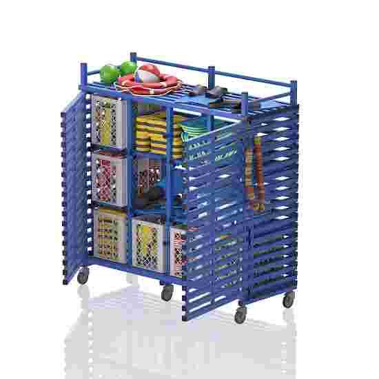 """Regalwagen aus Kunststoff """"12 Fächer"""" Blau"""