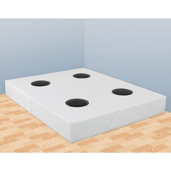 Rompa®-Musikwasserbett 140x200x50 cm hoch, Mit 4 Pulsgebern