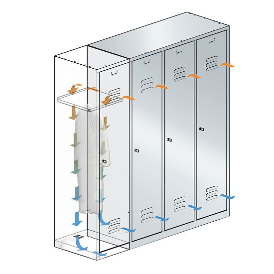 """S 2000 Classic"" Double Lockers with 100-mm-high Base 180x61x50 cm/ 4 shelves, 300 mm"