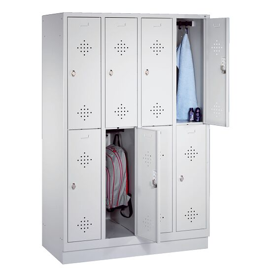 """S 2000 Classic"" Double Lockers with 100-mm-high Base 180x119x50 cm/ 8 shelves, 300 mm"
