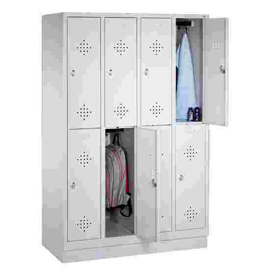 """S 2000 Classic"" Double Lockers with 100-mm-high Base 180x119x50 cm/ 8 shelves, 30 cm"