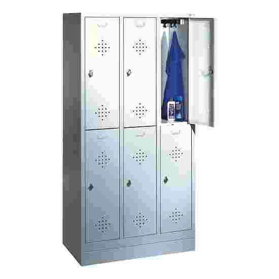 """S 2000 Classic"" Double Lockers with 100-mm-high Base 180x120x50 cm/ 6 shelves, 40 cm"