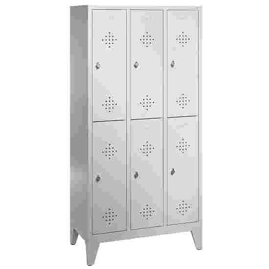 """""""S 2000 Classic"""" Double Lockers with 150-mm-high Feet 185x90x50 cm/ 6 shelves, 30 cm"""