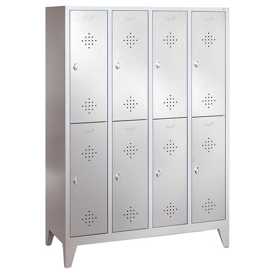 """S 2000 Classic"" Double Lockers with 150-mm-high Feet 185x159x50 cm/ 8 shelves, 400 mm"