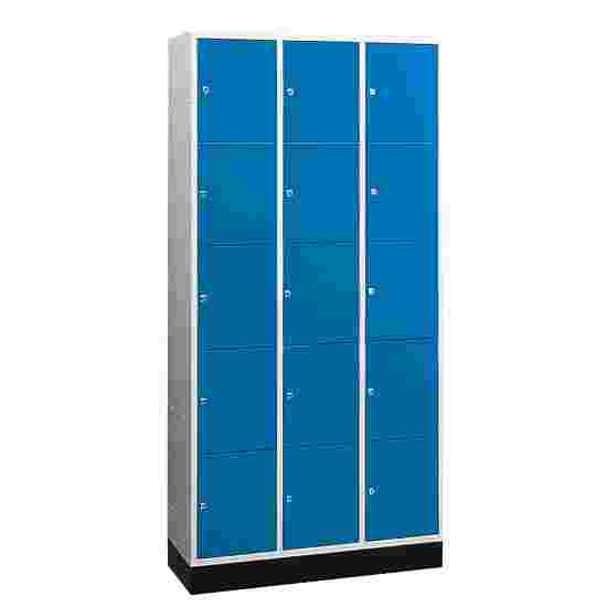 """""""S 4000 Intro"""" Compartment Locker (5 compartments on top of one another) 195x92x49cm/ 15 compartments, Gentian blue (RAL 5010)"""