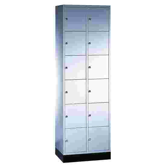"""""""S 4000 Intro"""" Compartment Locker (6 compartments on top of one another) 195x62x49cm/ 12 compartments, Light grey (RAL 7035)"""