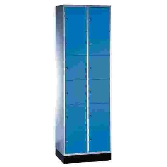 """""""S 4000 Intro"""" Compartment Locker (6 compartments on top of one another) 195x62x49cm/ 12 compartments, Gentian blue (RAL 5010)"""
