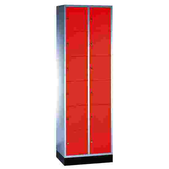"""""""S 4000 Intro"""" Compartment Locker (6 compartments on top of one another) 195x62x49cm/ 12 compartments, Fiery Red (RAL 3000)"""