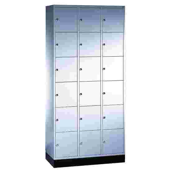 """""""S 4000 Intro"""" Compartment Locker (6 compartments on top of one another) 195x92x49cm/ 18 compartments, Light grey (RAL 7035)"""