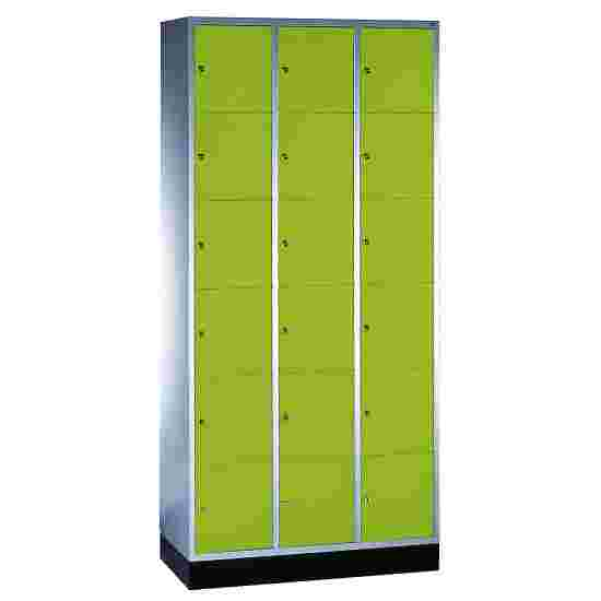 """""""S 4000 Intro"""" Compartment Locker (6 compartments on top of one another) 195x92x49cm/ 18 compartments, Viridian green (RDS 110 80 60)"""