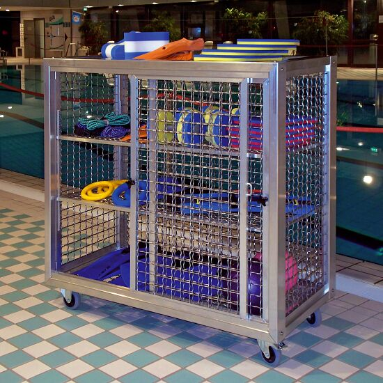 Schwimmbad-Gitterregalwagen Mit Rädern, 125x125x62 cm