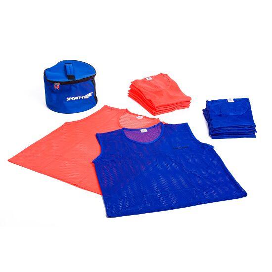 Set Mannschaftswesten Erwachsene, Orange/Blau