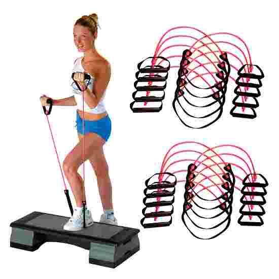 Set of 10 Sport-Thieme Fitness Step Tubes Pink = medium