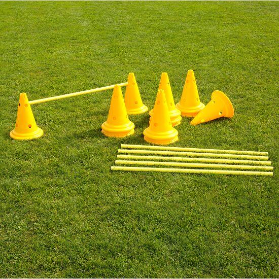 Set of Cone Hurdles 30-cm-tall cones, yellow