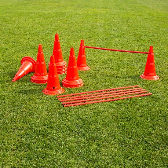 Set of Cone Hurdles 50-cm-tall cones, red