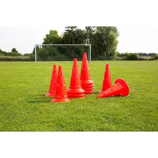 Set of Marking Cones 50-cm-tall cones, red