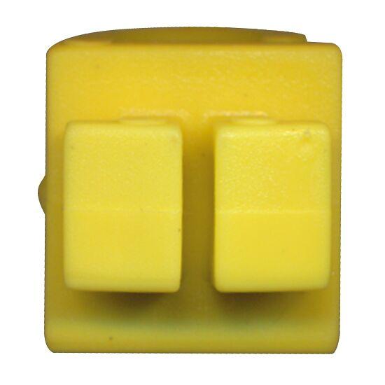 Sicherheits-Netzhalter aus KU Diebstahlsicher, das Netz liegt in der Profilnut, Gelb, 19x19x11 mm