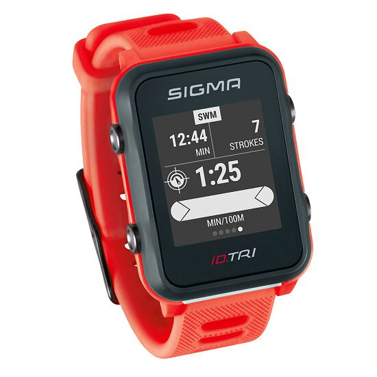 "Sigma Fitnessuhr ""iD TRI"" Basic, Neon-Rot"