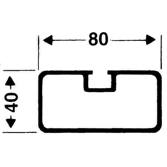 Sikkerhedsforankrings-system 80x40 mm. Rektangel-profil 80x40 mm.