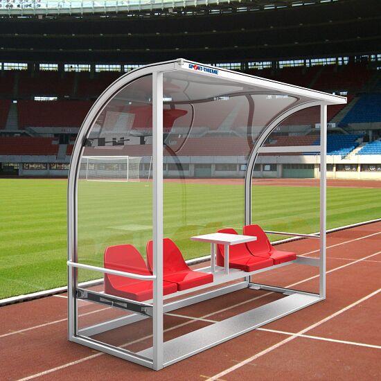 """Spielerkabine """"Champion"""" 2,50 m breit, 4 Sitze, Polycarbonat"""