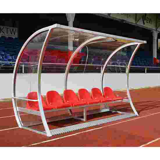 """Spielerkabine """"Exklusiv"""" 3,00 m breit, 6 Sitze, Ohne Fußheizung"""