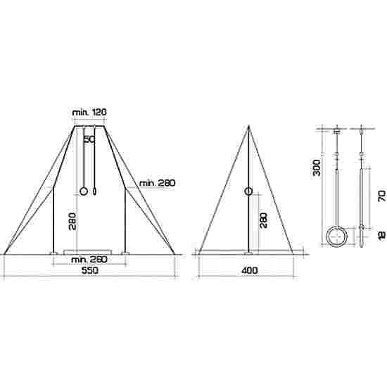 """Spieth """"Berlin"""" Gymnastics Rings Apparatus"""