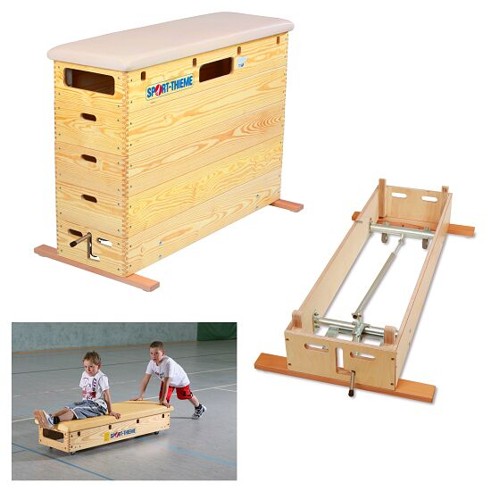 "Sport-Thieme® 5-Part ""Original"" Vaulting Box With swivel castor kit and wheel kit"