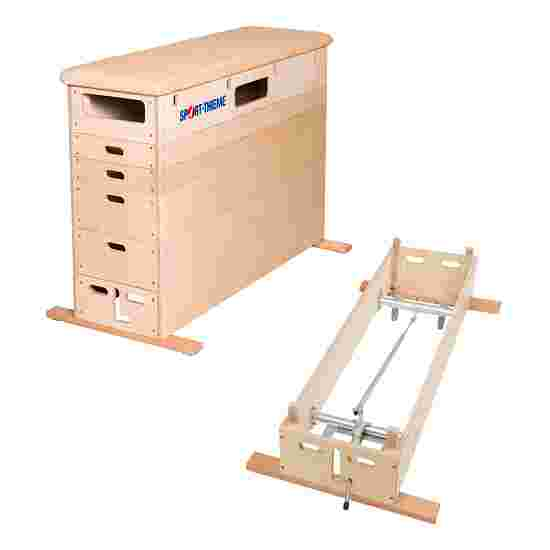 Sport-Thieme 6-Part Plywood Vaulting Box With swivel castor kit, Leather cover