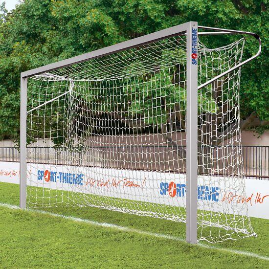 Sport-Thieme® 7-mandsmål af aluminium, 5x2 m. kvadratprofil, stående i jordbøsninger Sammenskruede hjørner