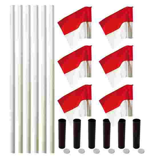 """Sport-Thieme """"All-Round"""" Boundary Pole Set White poles, red/white flags"""