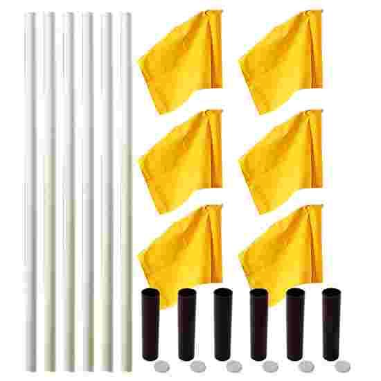 """Sport-Thieme """"All-Round"""" Boundary Pole Set White poles, neon yellow flags"""