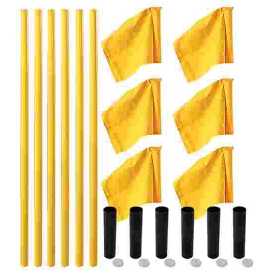 """Sport-Thieme """"All-Round"""" Boundary Pole Set Yellow poles, neon yellow flag"""
