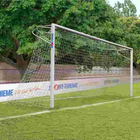 Sport-Thieme Alu-Fußballtore, 7,32x2,44 m, eckverschweißt, in Bodenhülsen stehend Netzhalteschiene