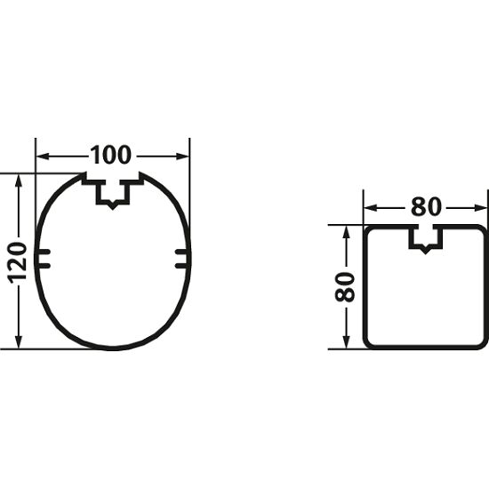 Sport-Thieme® Alu-minimål 3x2 m. Ovalprofil