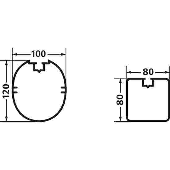 Sport-Thieme Aluminium Small Pitch Goal, 3x2 m, Oval Tubing