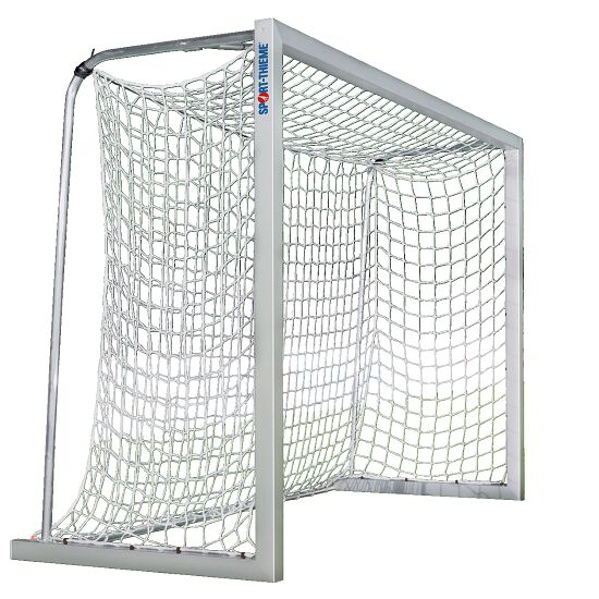 Sport-Thieme® aluminium small pitch goal, 3x2 m, square tubing, free-standing or fitted into ground sockets Free-standing