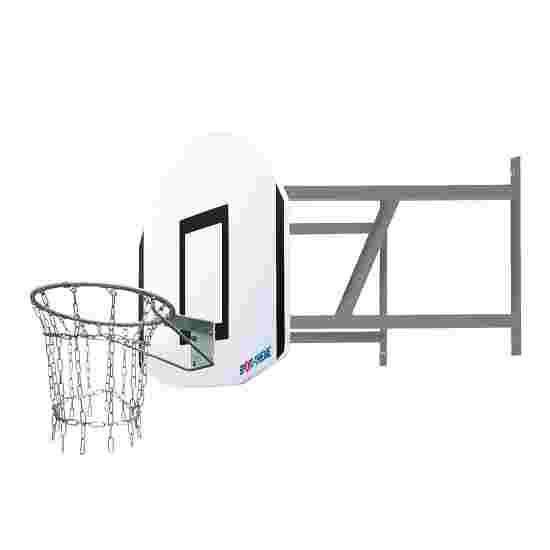 Sport-Thieme Basketball-anlæg til vægmontering, sæt Outdoor