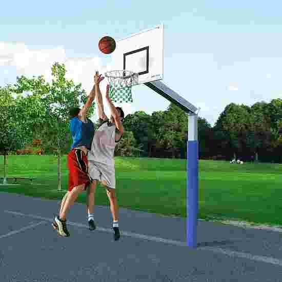 """Sport-Thieme Basketballanlage  """"Fair Play"""" mit Herkulesseil-Netz Korb """"Outdoor"""" abklappbar"""