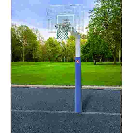"""Sport-Thieme Basketballanlage  """"Fair Play Silent"""" mit Herkulesseil-Netz Korb """"Outdoor"""" abklappbar, 180x105 cm"""