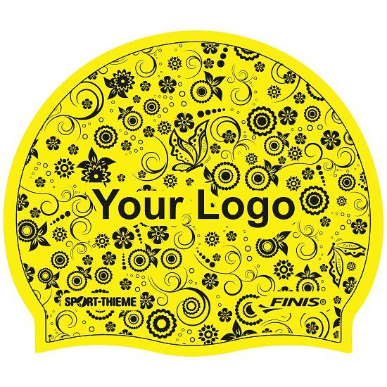 Sport-Thieme® Bedruckte Badekappe Latex Gelb, 1-seitig