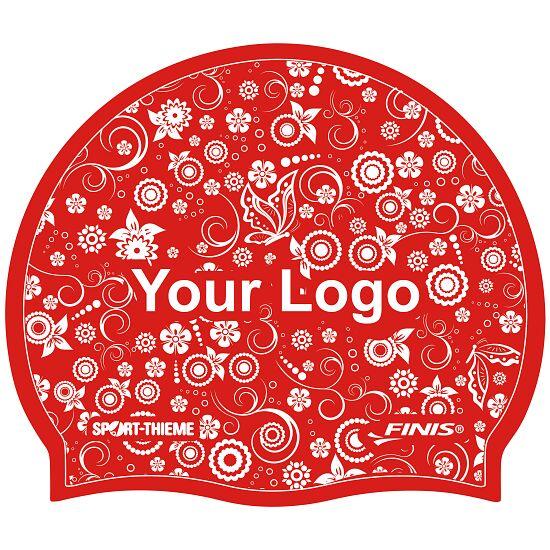 Sport-Thieme® Bedruckte Badekappe Silikon Rot, 1-seitig
