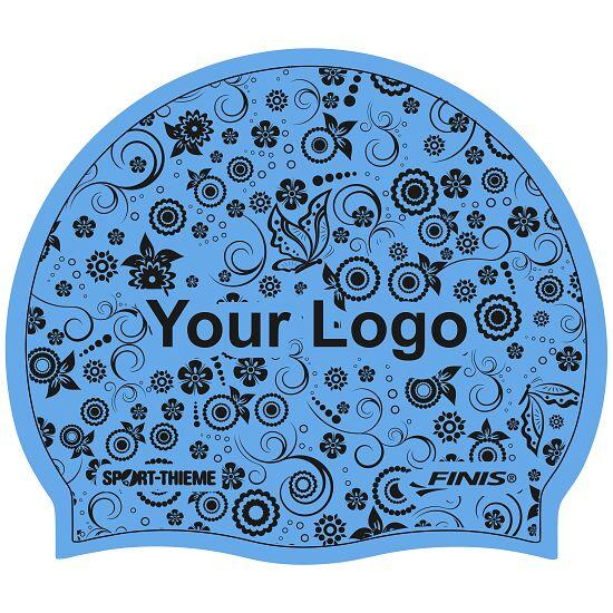 Sport-Thieme® Bedruckte Schwimmkappe Silikon Blau , 1-seitig