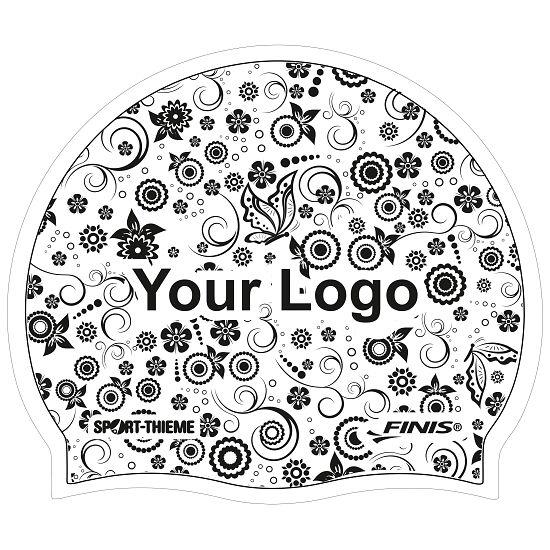 Sport-Thieme® Bedruckte Schwimmkappe Silikon Weiß, Beidseitig