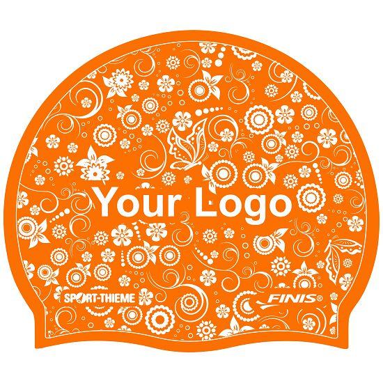 Sport-Thieme® Bedruckte Schwimmkappe Silikon Orange, Beidseitig