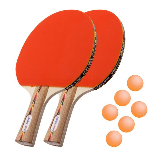 "Sport-Thieme® ""Berlin"" Table Tennis Bat Set Orange balls"